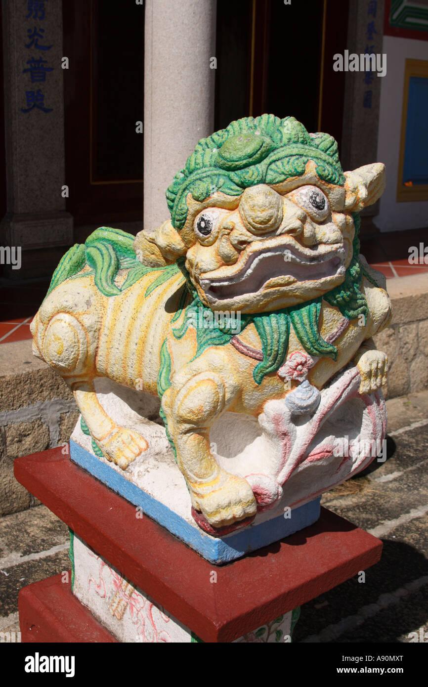 statue of chinese mythical foo dog - Stock Image