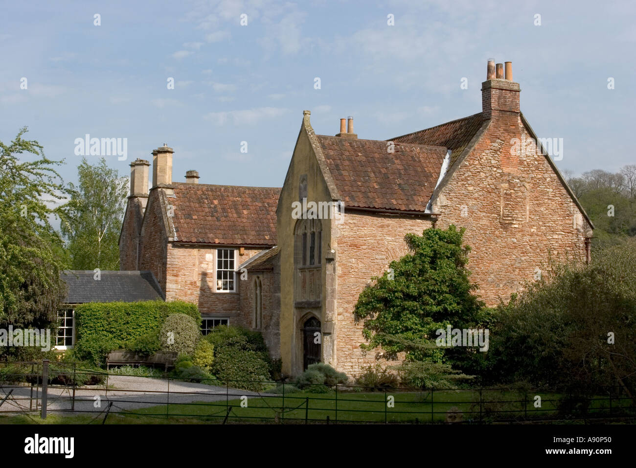England Somerset Wells The Rib former canonical house behind the Cathedral - Stock Image