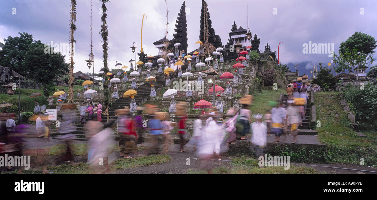 Indonesien Bali Besakih mother temple ceremony - Stock Image