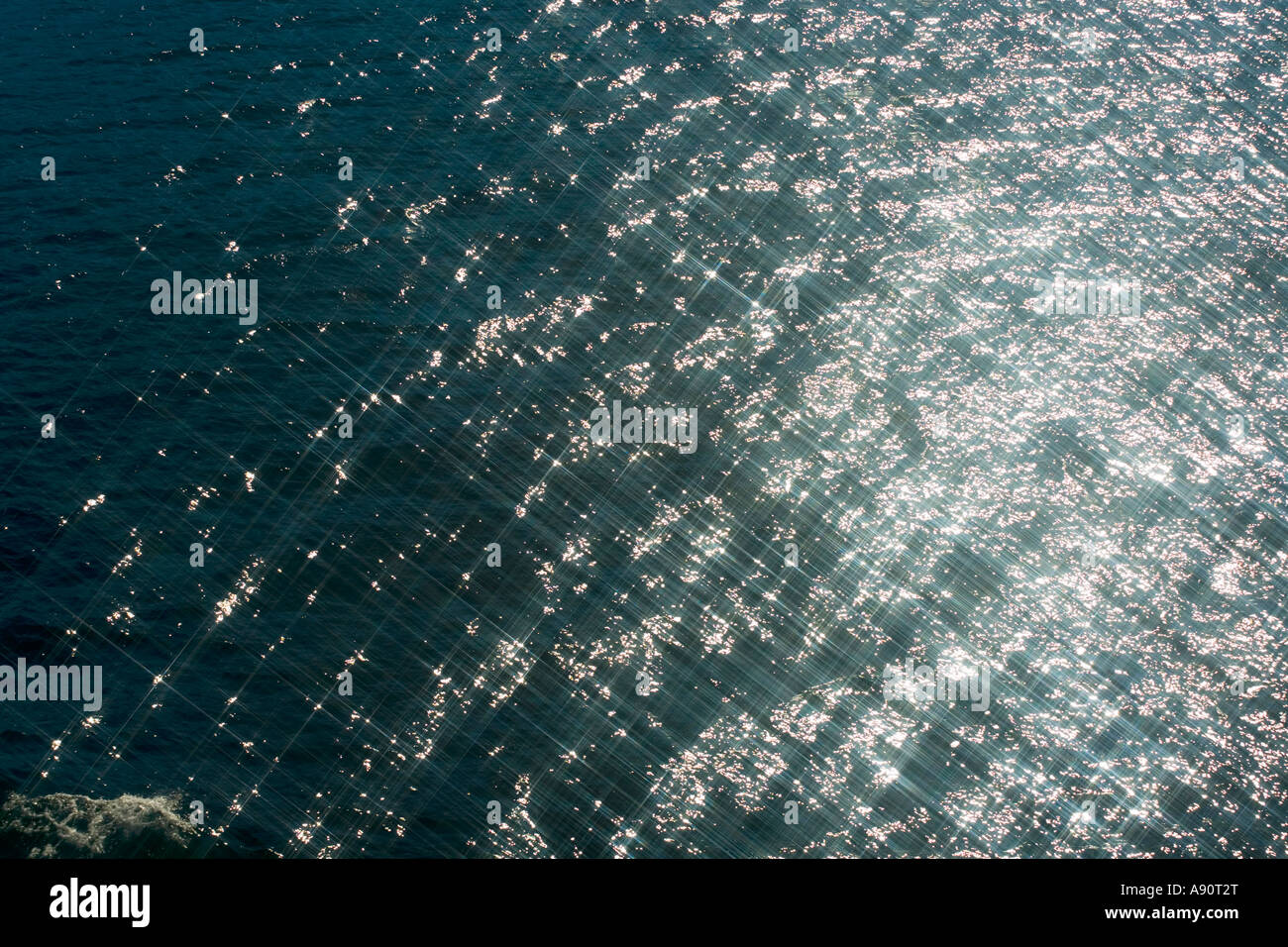 Sparkling sea north of Oksfjord Norway - Stock Image