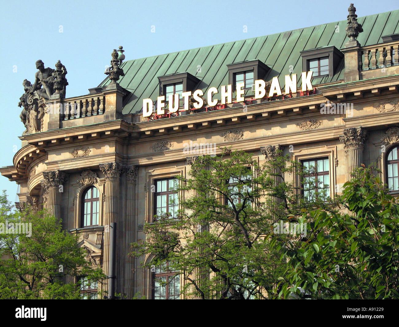 the DEUTSCHE BANK building Munich  - Stock Image
