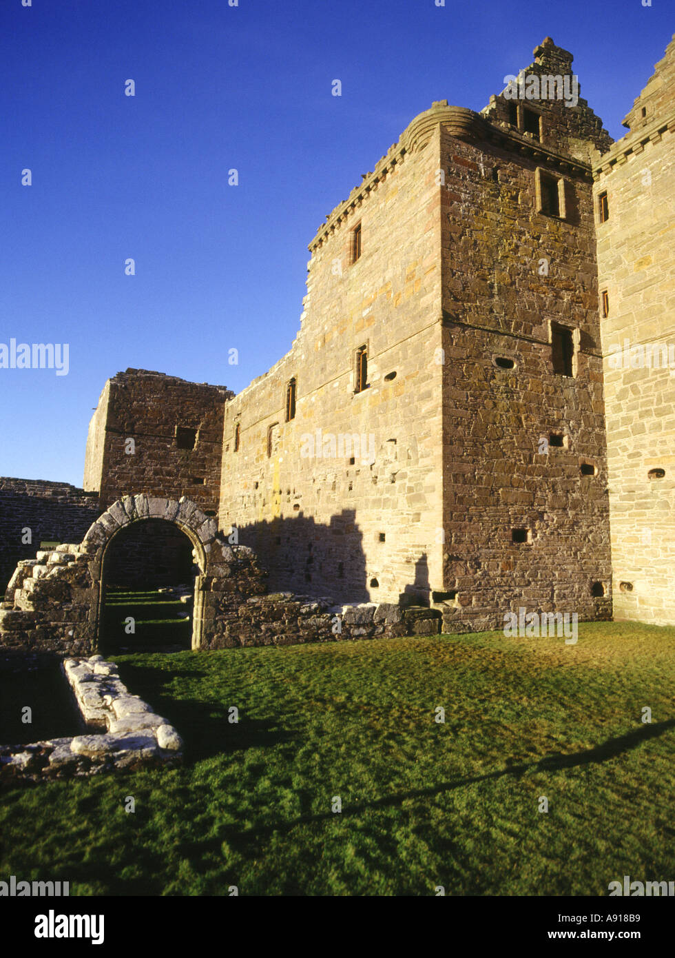 dh Noltland Castle WESTRAY ORKNEY Ruined castle build by Gilbert Balfour Stock Photo