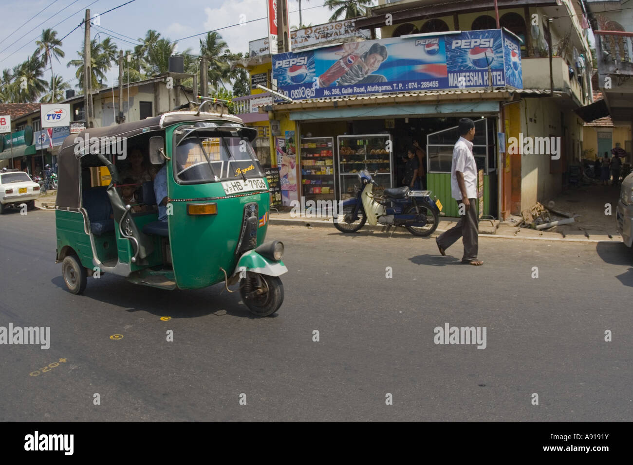 Taxi or tut tut in Bentota Sri lanka - Stock Image