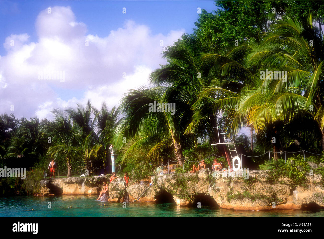 The Venetian Pool at Coral Gables Miami Florida USA - Stock Image
