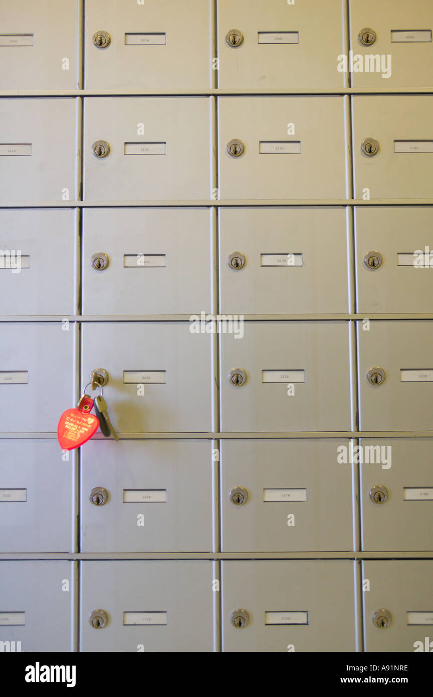Mailboxes at Apartment Complex - Stock Image