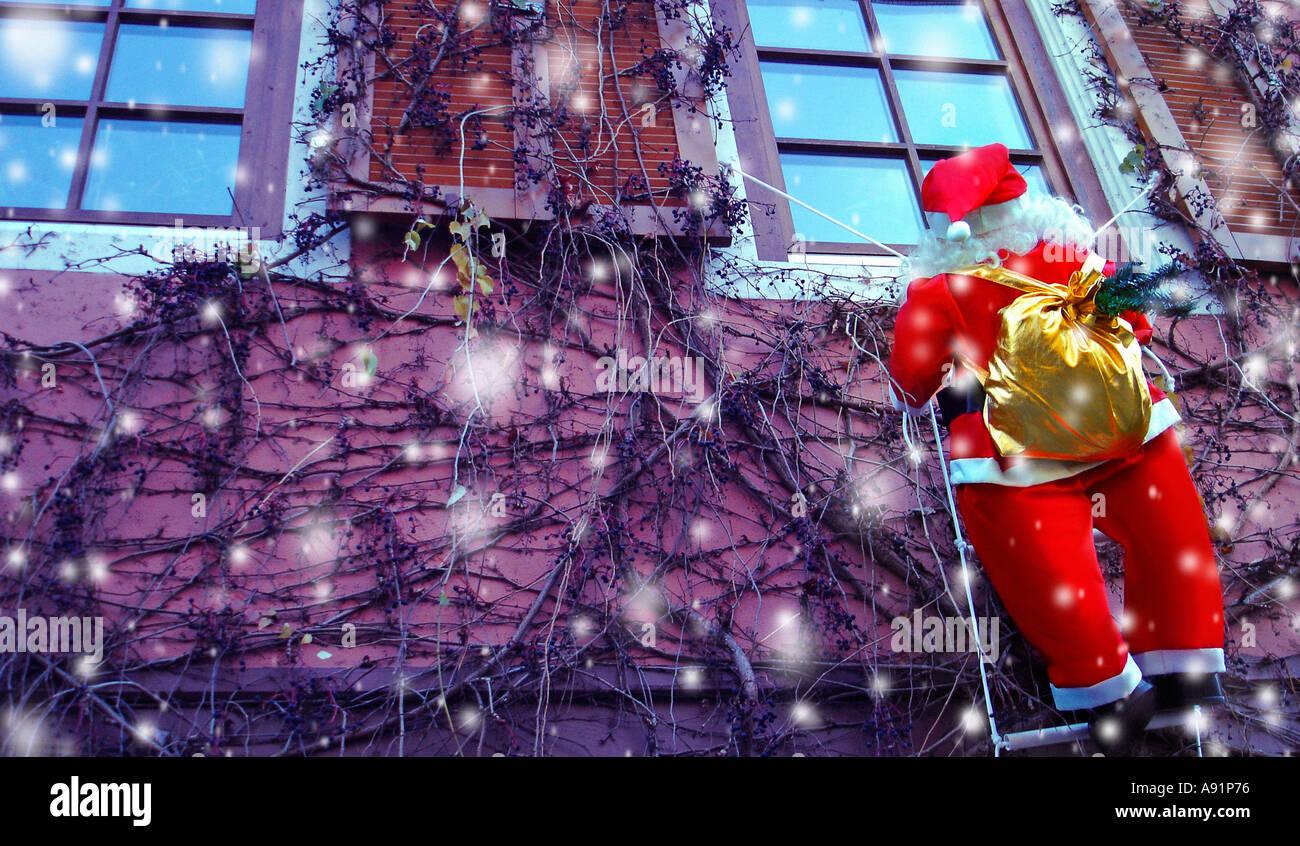 santa claus nikolaus weihnachtsmann - Stock Image