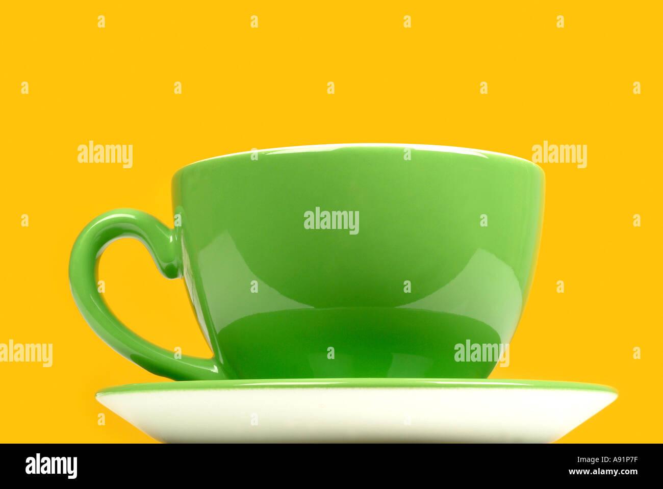cup of tea with teabag Teetasse mit Teebeutel Stock Photo