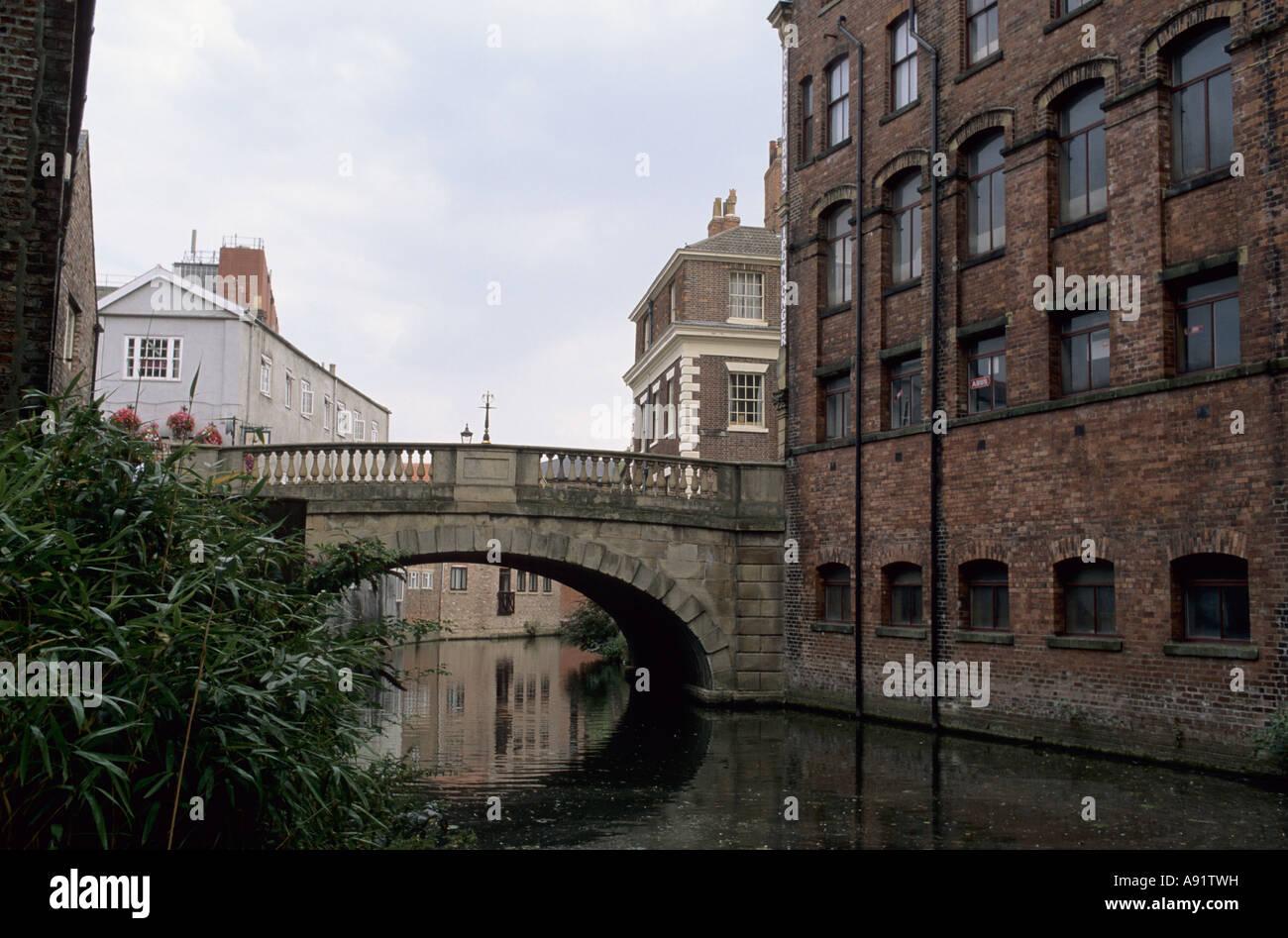 Fossgate Bridge,York. - Stock Image