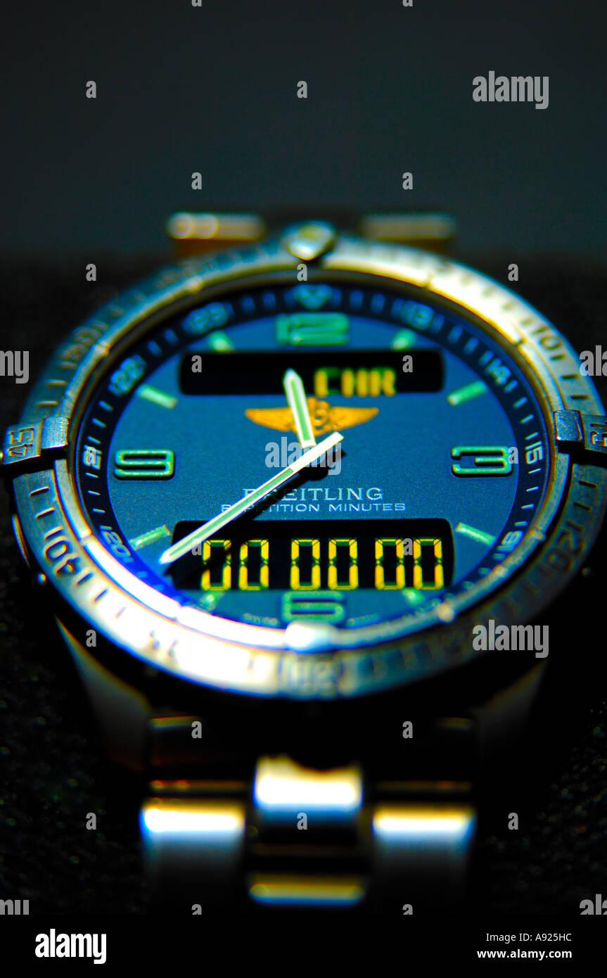 Breitling Aerospace repetition minutes titanium gents wristwatch - Stock Image