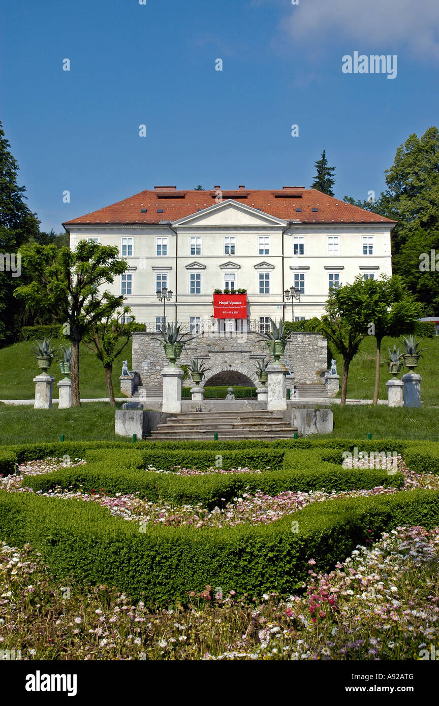 Tivoli castle, international graphic art centre, Ljubljana, Slovenia - Stock Image