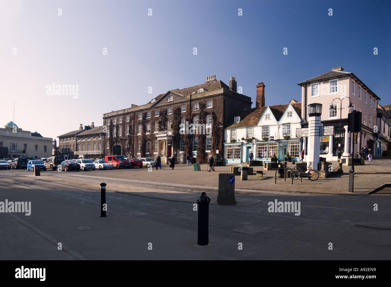 The Angel Hotel Bury St Edmunds Suffolk England UK - Stock Image