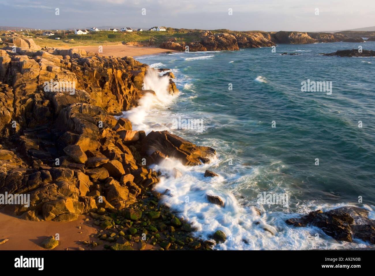 Atlantic Ocean Cruit Island Co Donegal Ireland - Stock Image