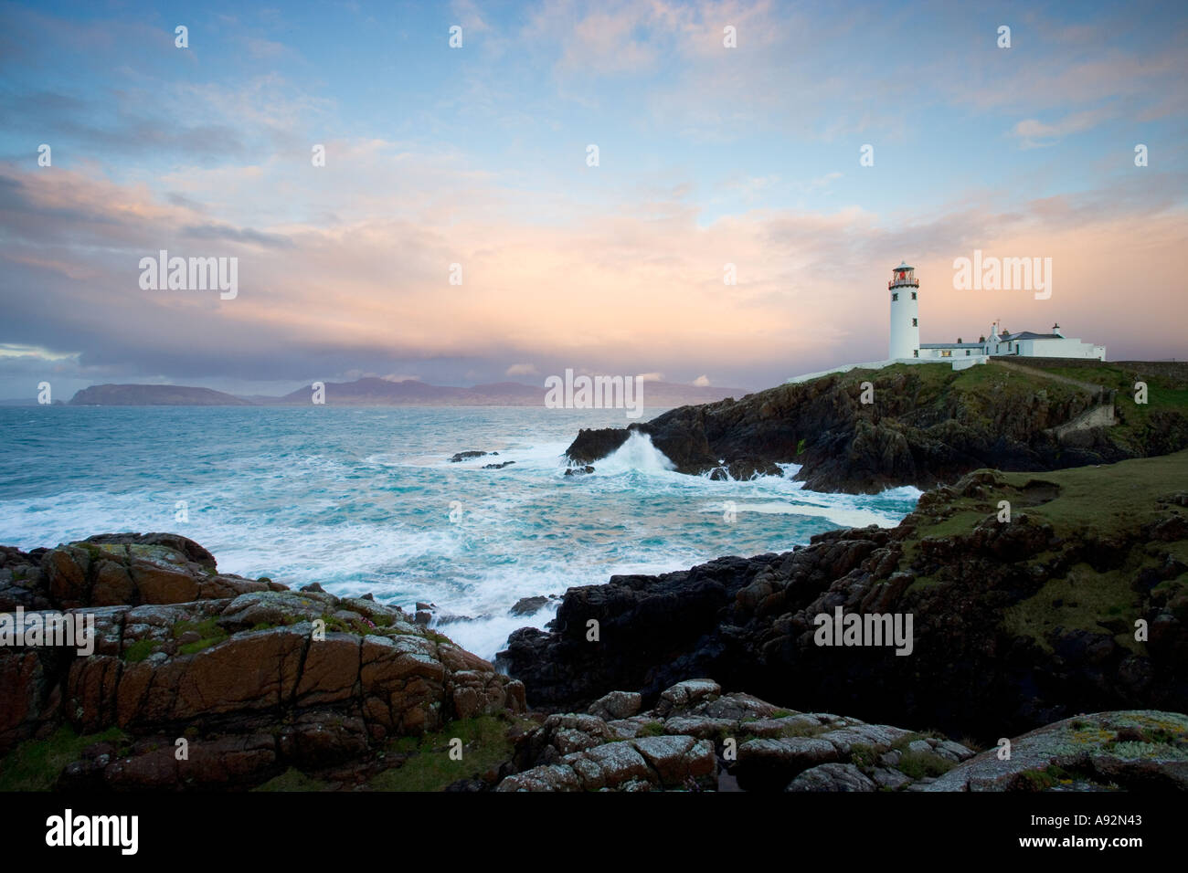 Fanad Head Lighthouse County Donegal Eire - Stock Image