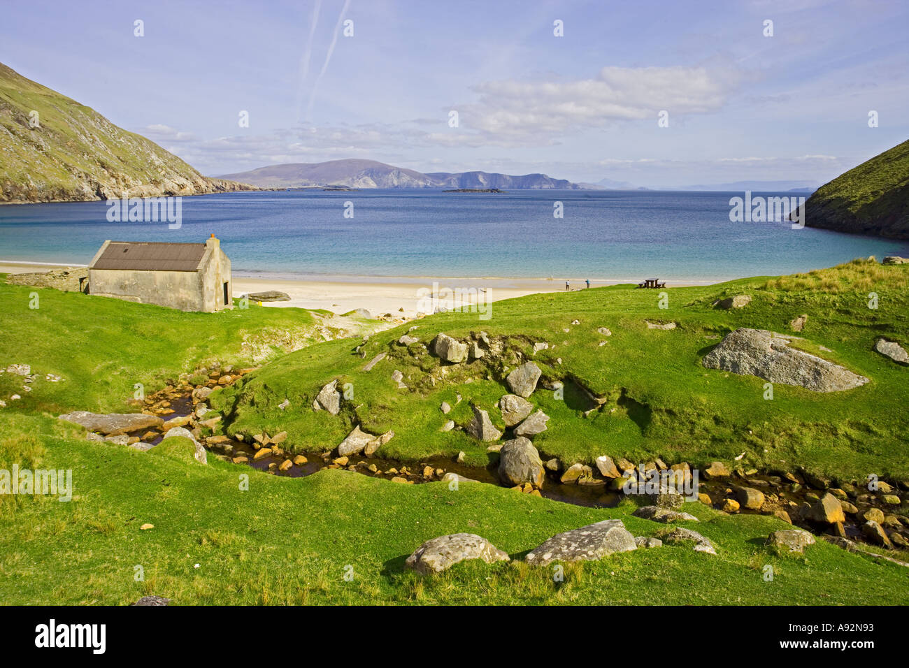 Keel Beach Achill Island Co Mayo Eire - Stock Image