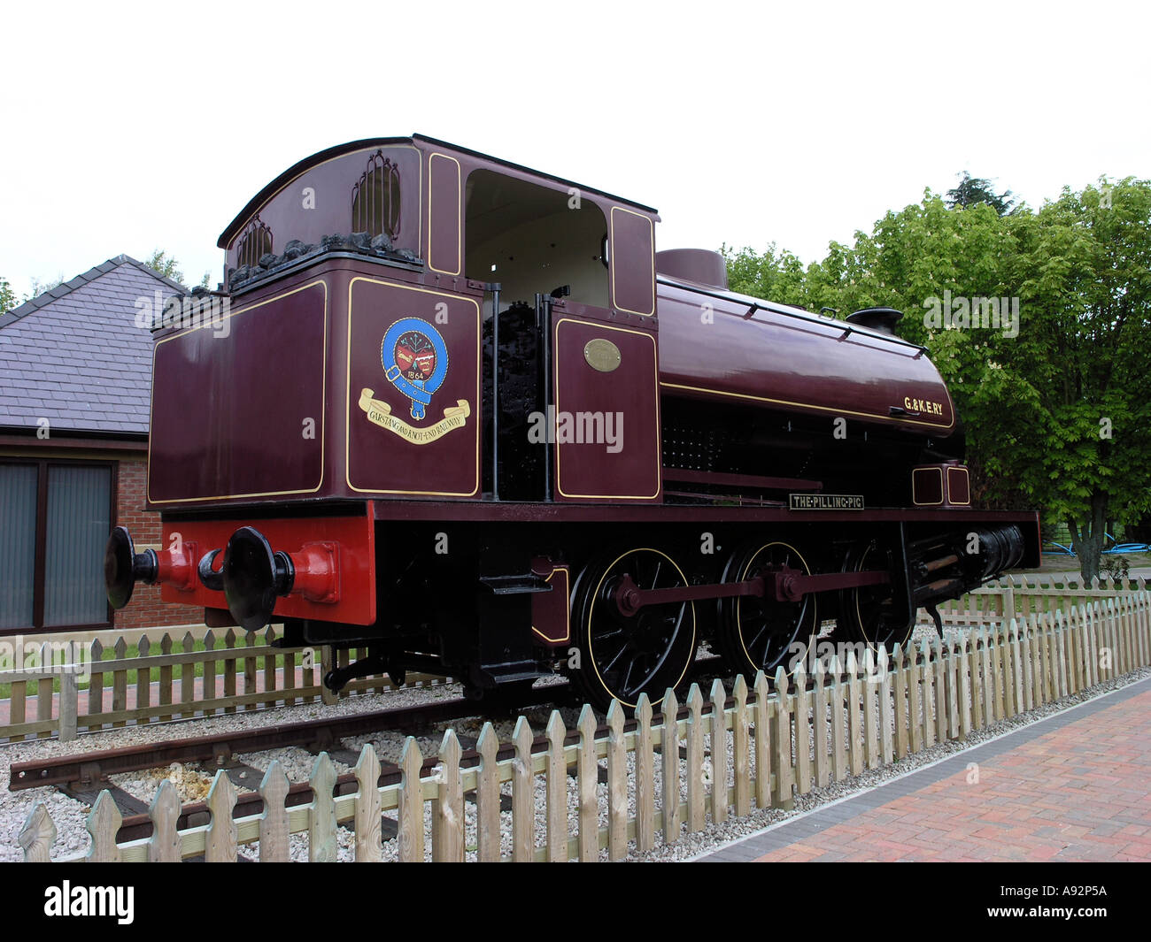 The Pilling Pig of the Garstang and Knot End Railway preserved at Pilling Lancashire - Stock Image