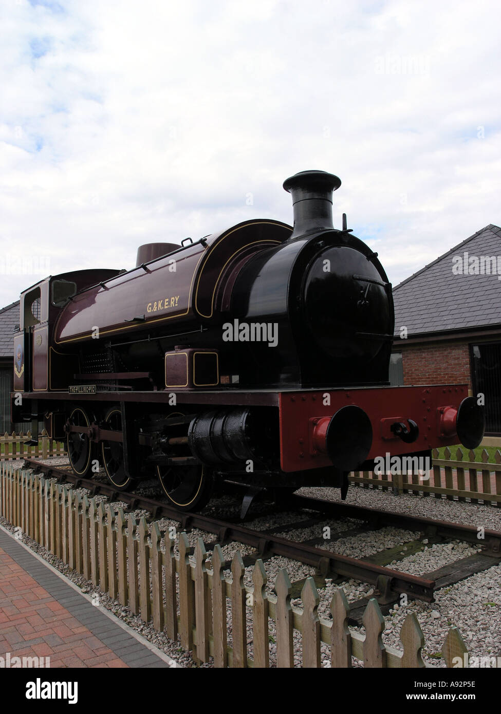 The 'Pilling Pig' of the Garstang and Knot End Railway preserved at Pilling Lancashire - Stock Image