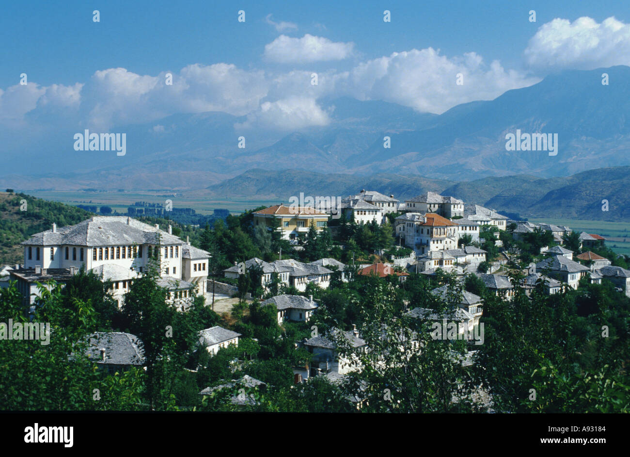 Albania Albanien city of Gjirokaster - Stock Image