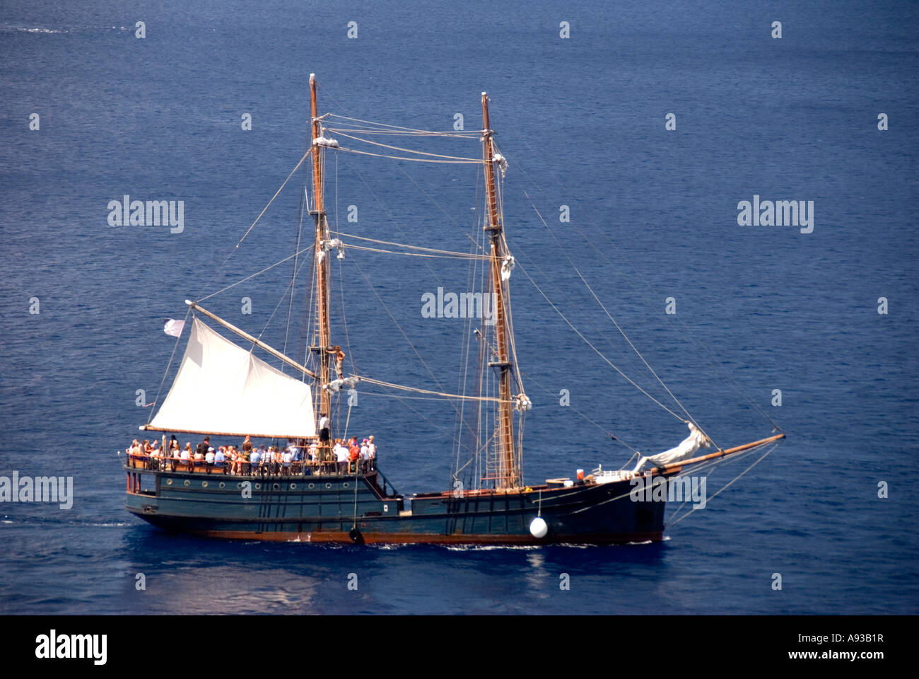 George Town Grand Cayman  aerial  pirate ship - Stock Image