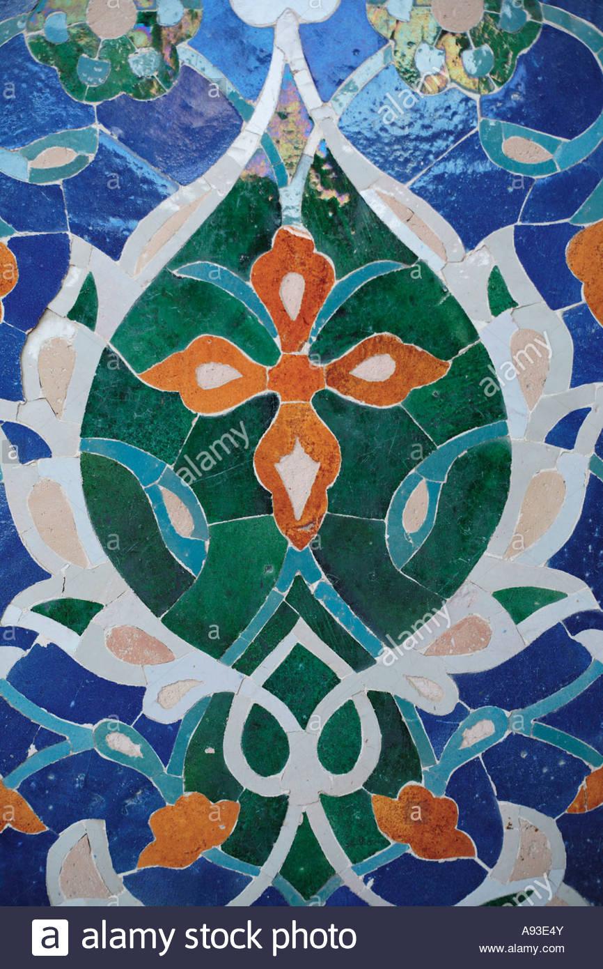 ancient Asia Central Asia Ceramic Ceramica Islam Islamic Islamic architecture Madrasah Old Orient Oriental Ouzbek Stock Photo