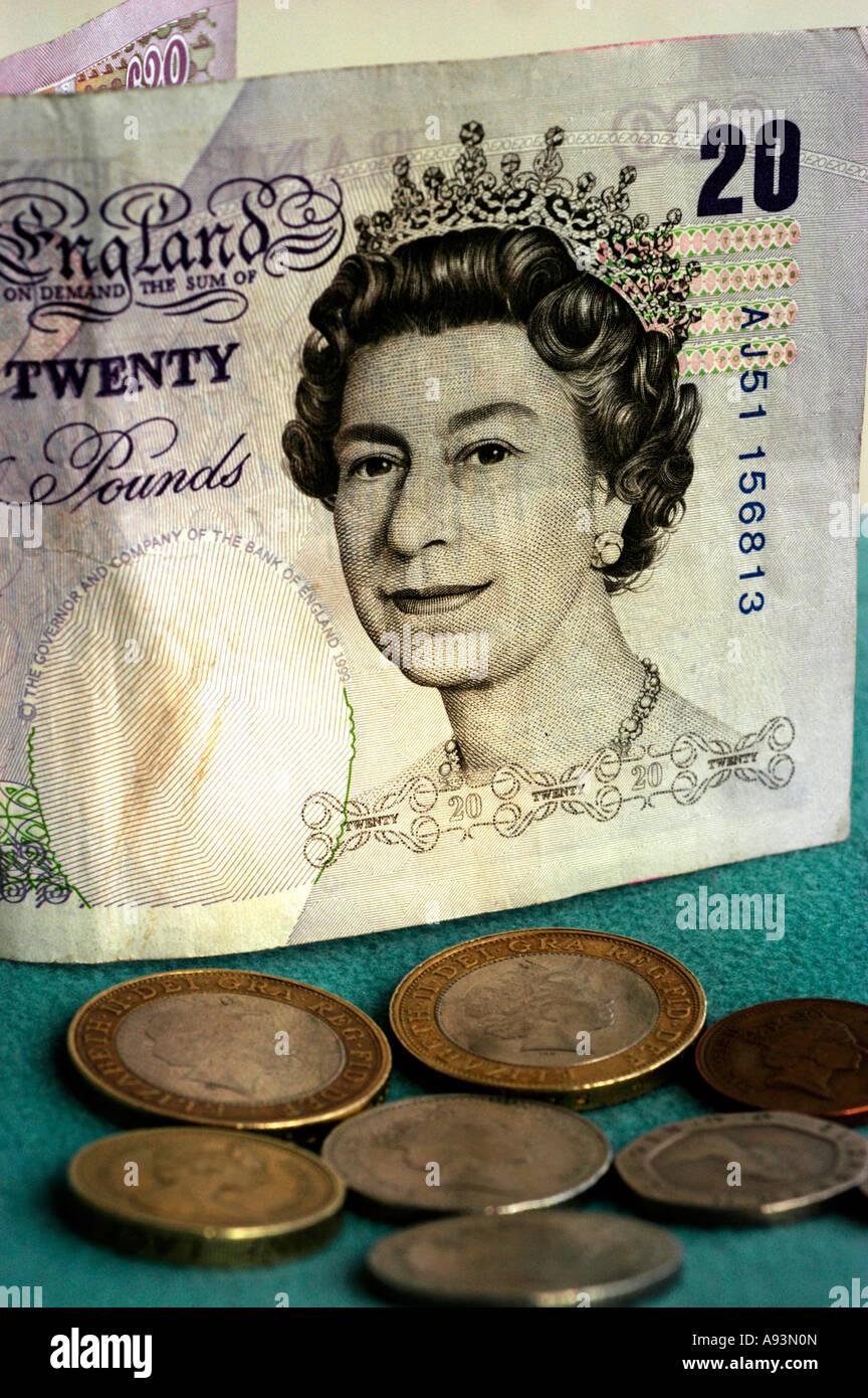 britische Währung - Stock Image