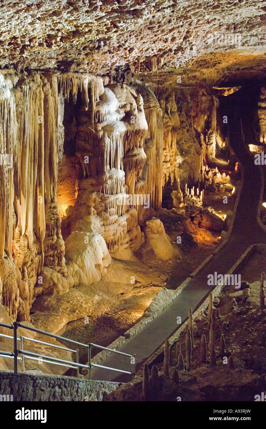 Blanchard Springs Caverns near Mountain View AR Stock Photo