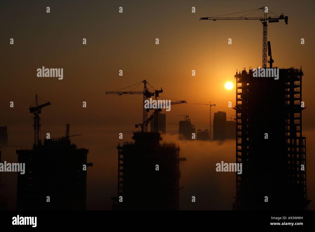 Construction at Business Bay Dubai United Arab Emirates - Stock Image