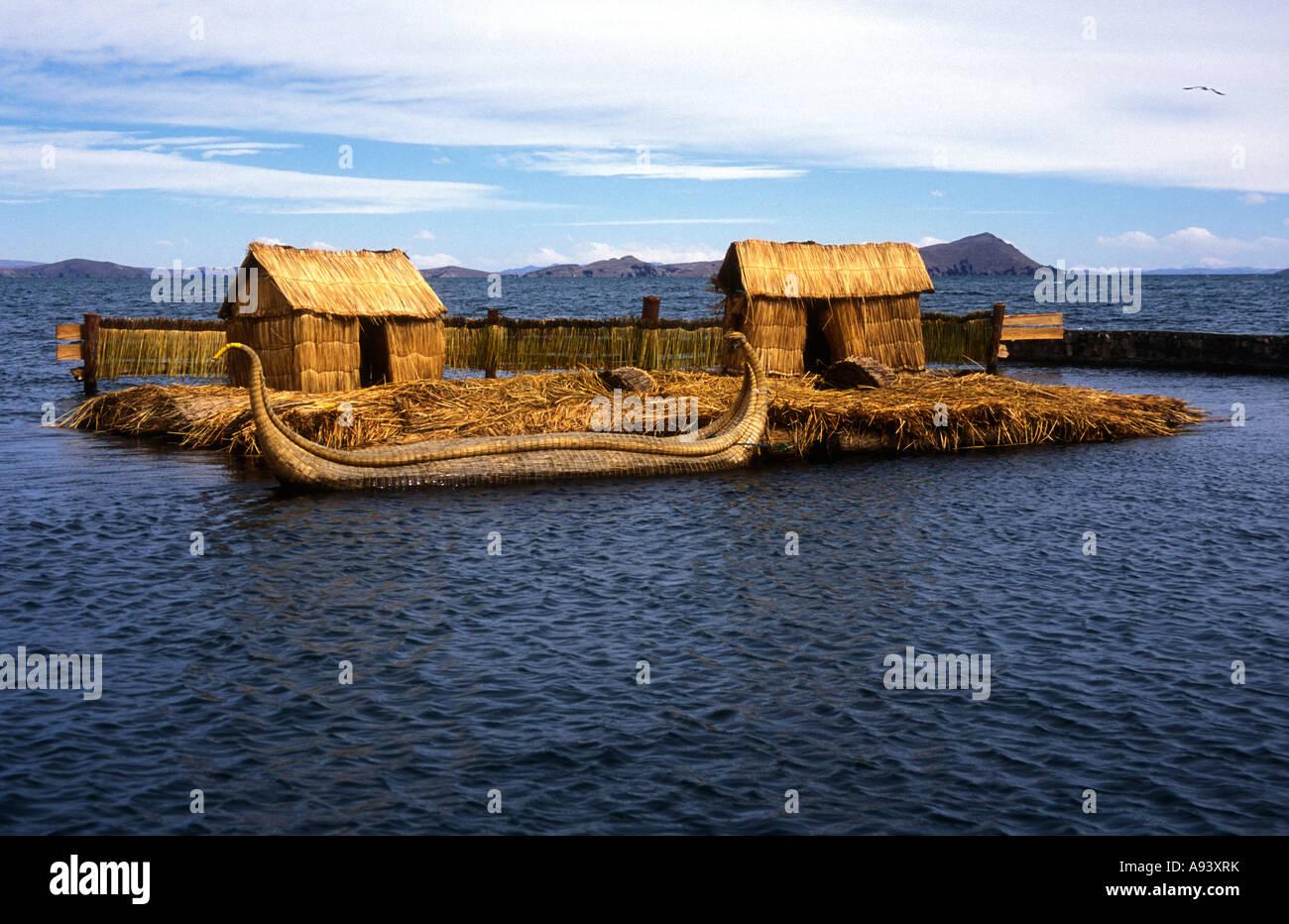 Lake Titikaka Junks, Bolivia - Stock Image