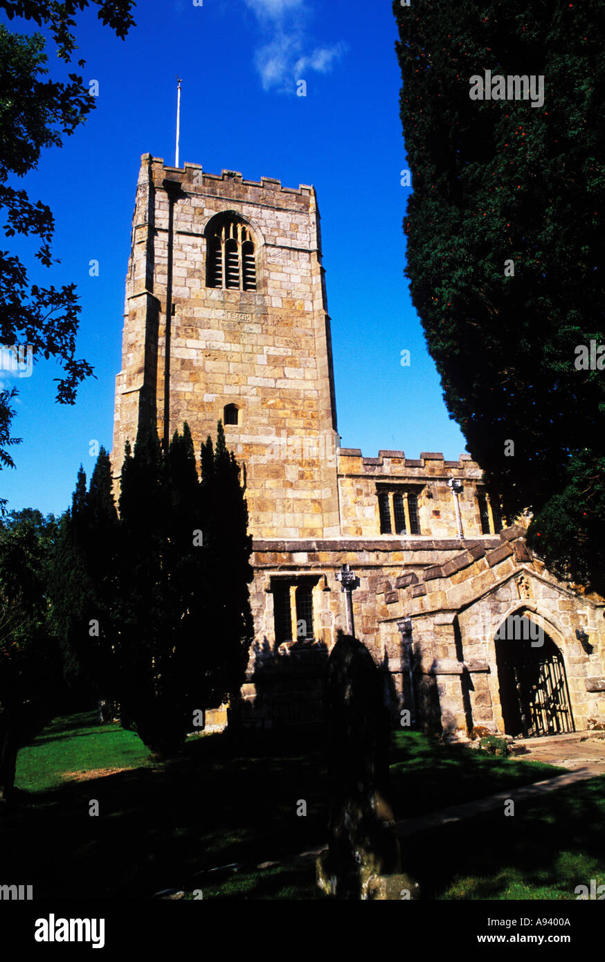 Medieval Parish of St Michael 1135 A D Yorkshire District in England - Stock Image