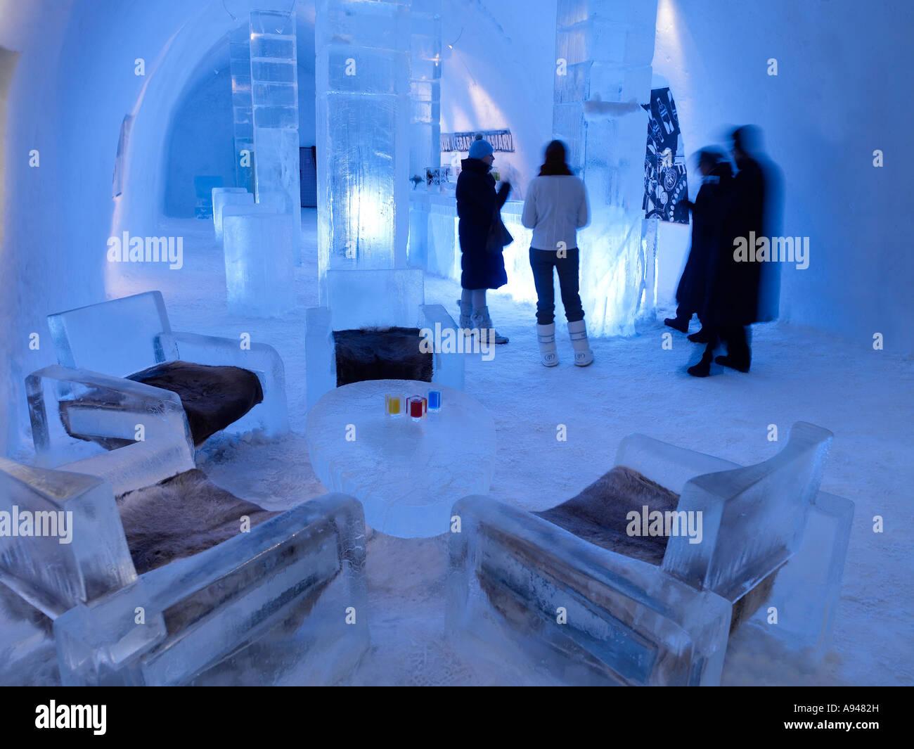 People interior, Ice Hotel, Jukkasjarvi, Kiruna, Lapland, Sweden ...