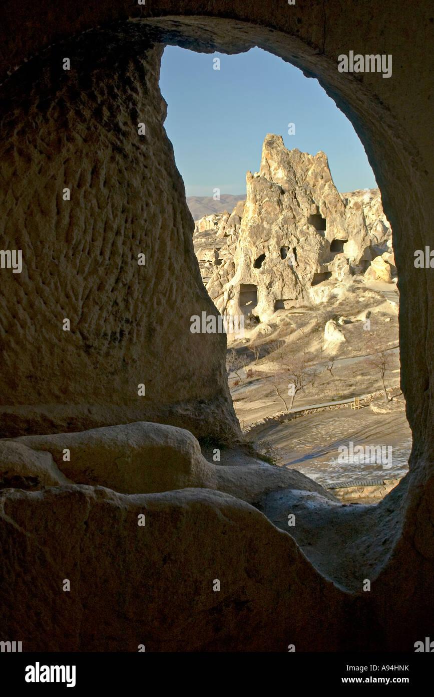 A window to Capadoccia Turkey - Stock Image