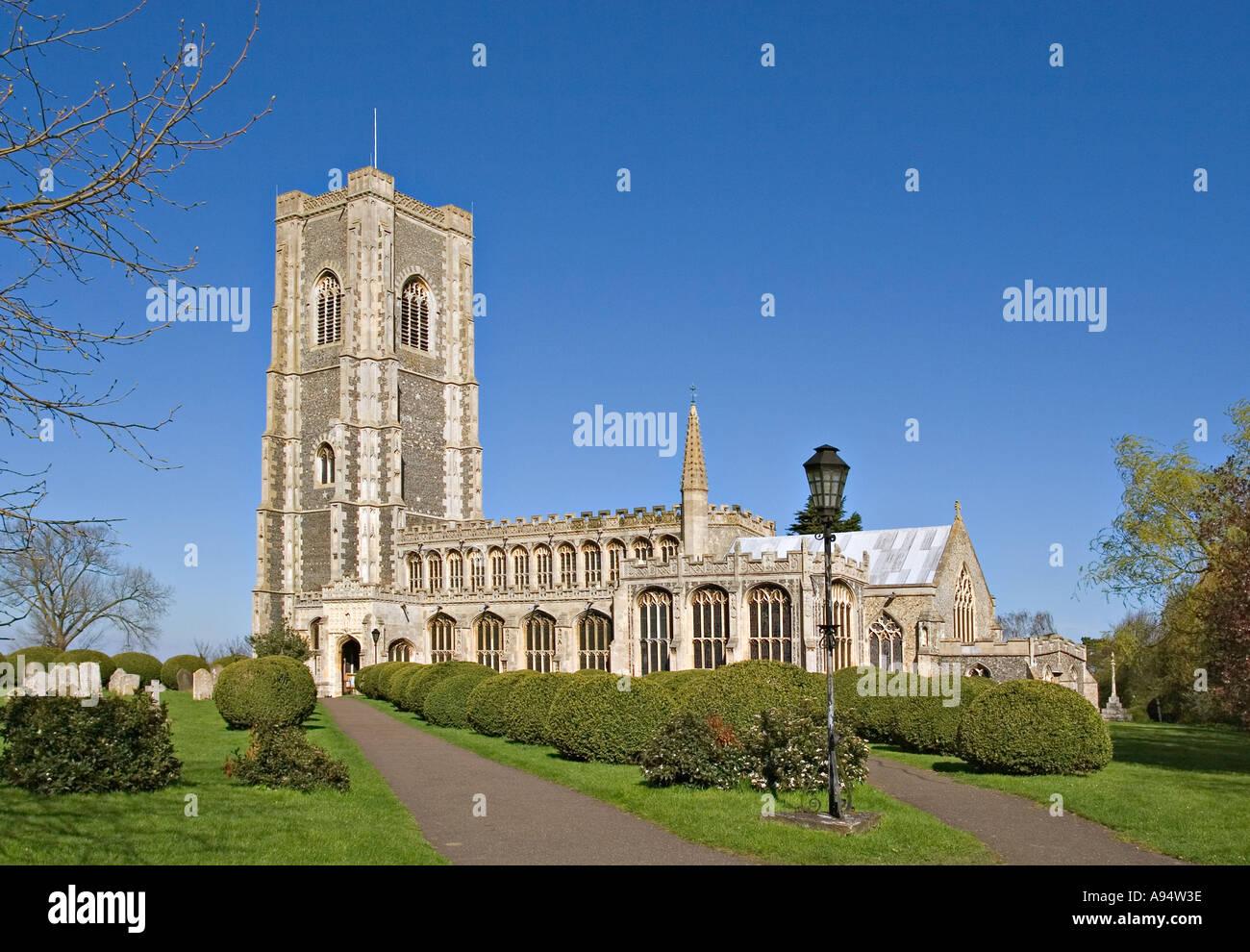 Lavenham Parish Church in Suffolk UK - Stock Image
