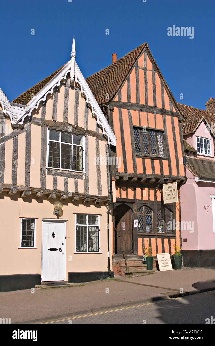 Lavenham Suffolk Half Timbered Medieval buildings - Stock Image