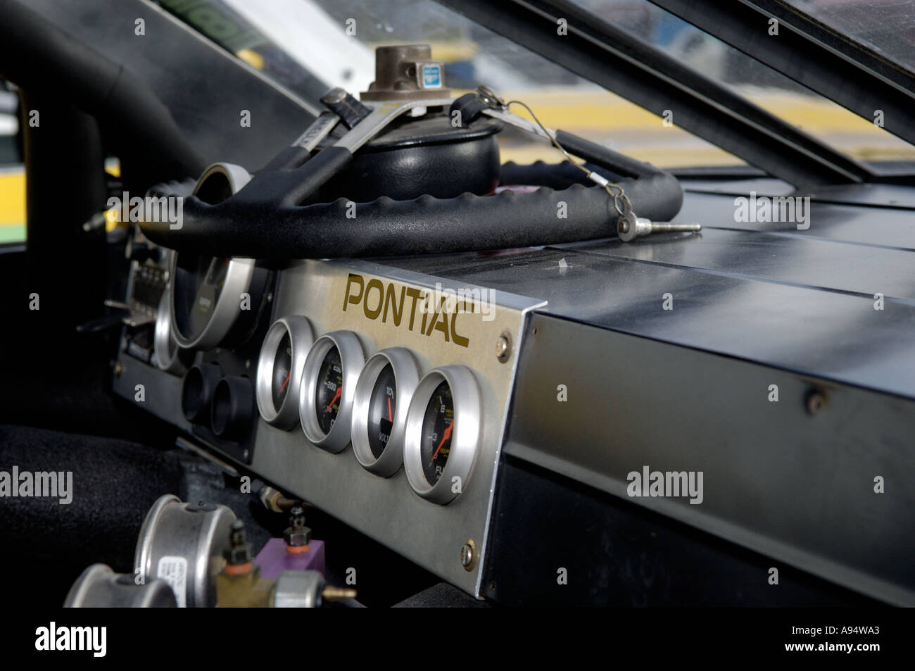 pontiac grand prix high resolution stock photography and images alamy https www alamy com interioror detail of a 1991 pontiac grand prix race car and the vintage image4000162 html