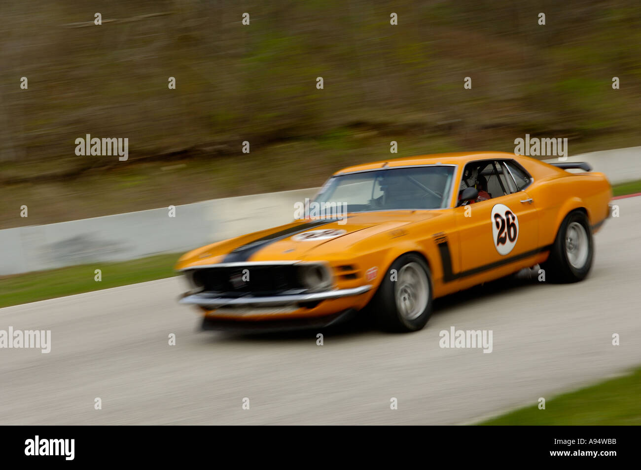 Kevin Head Races His Ford Mustang Boss  At The Vintage Gt Challenge At Road America