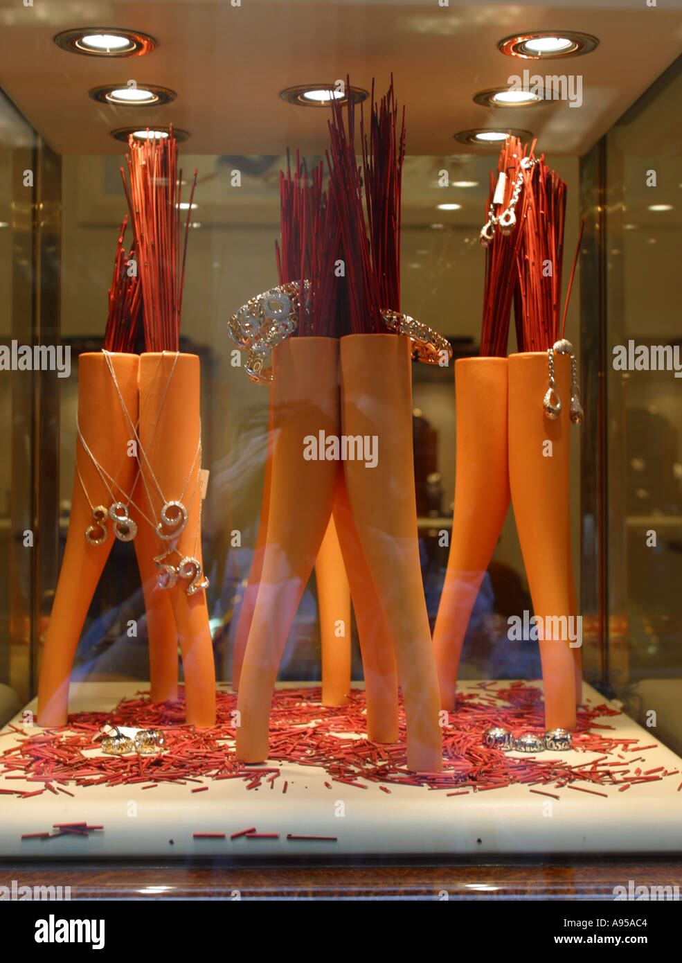 Exclusive Milan shop in the Fashion District Italy - Stock Image