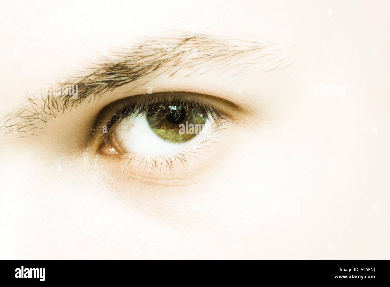 Male eye, extreme close-up - Stock Image