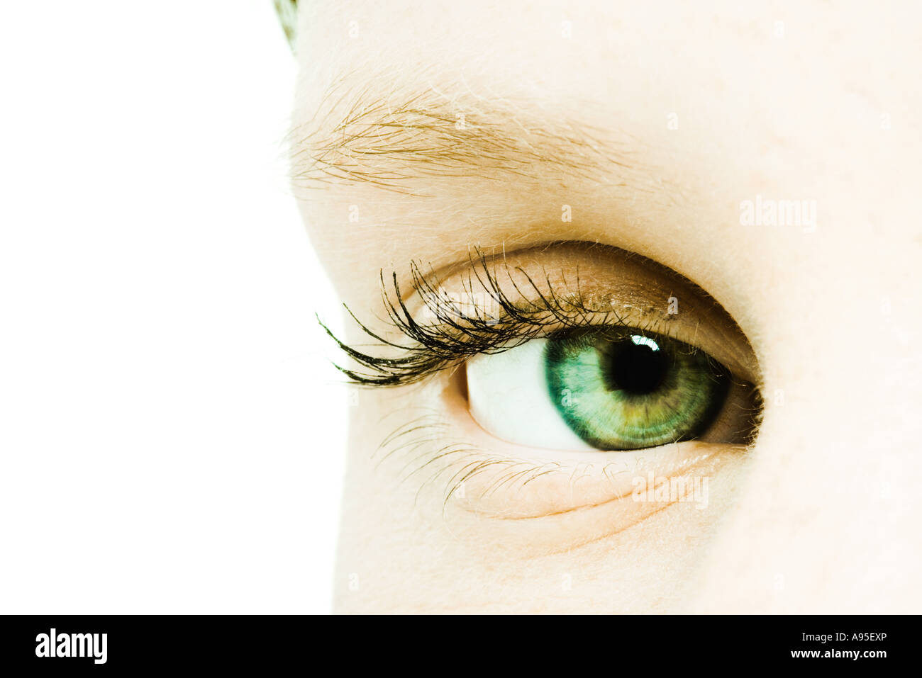 Teenage girl's eye, extreme close-up - Stock Image