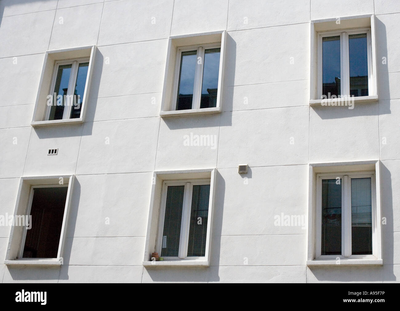 Apartment building facade, close-up - Stock Image