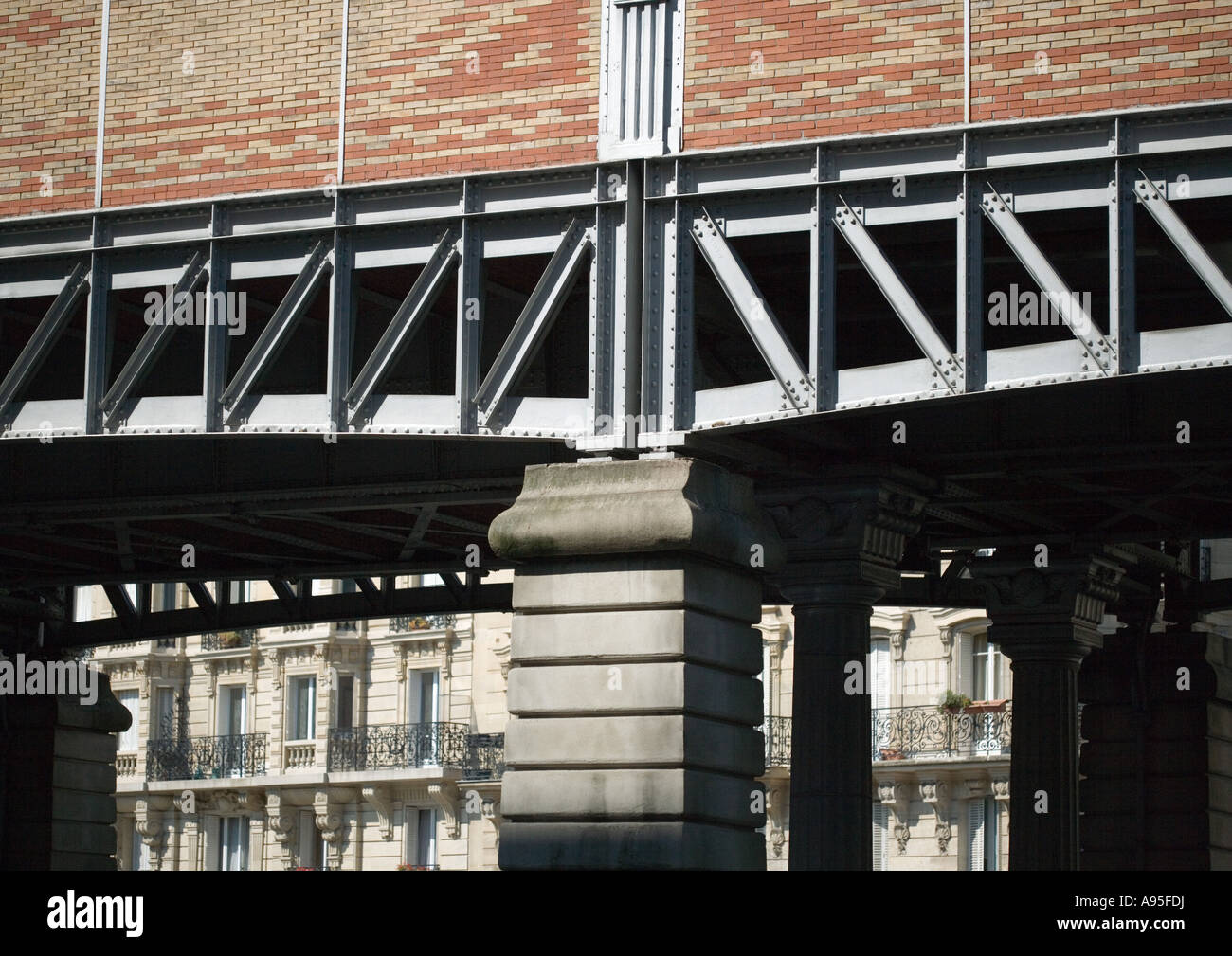 Elevated subway, partial view - Stock Image