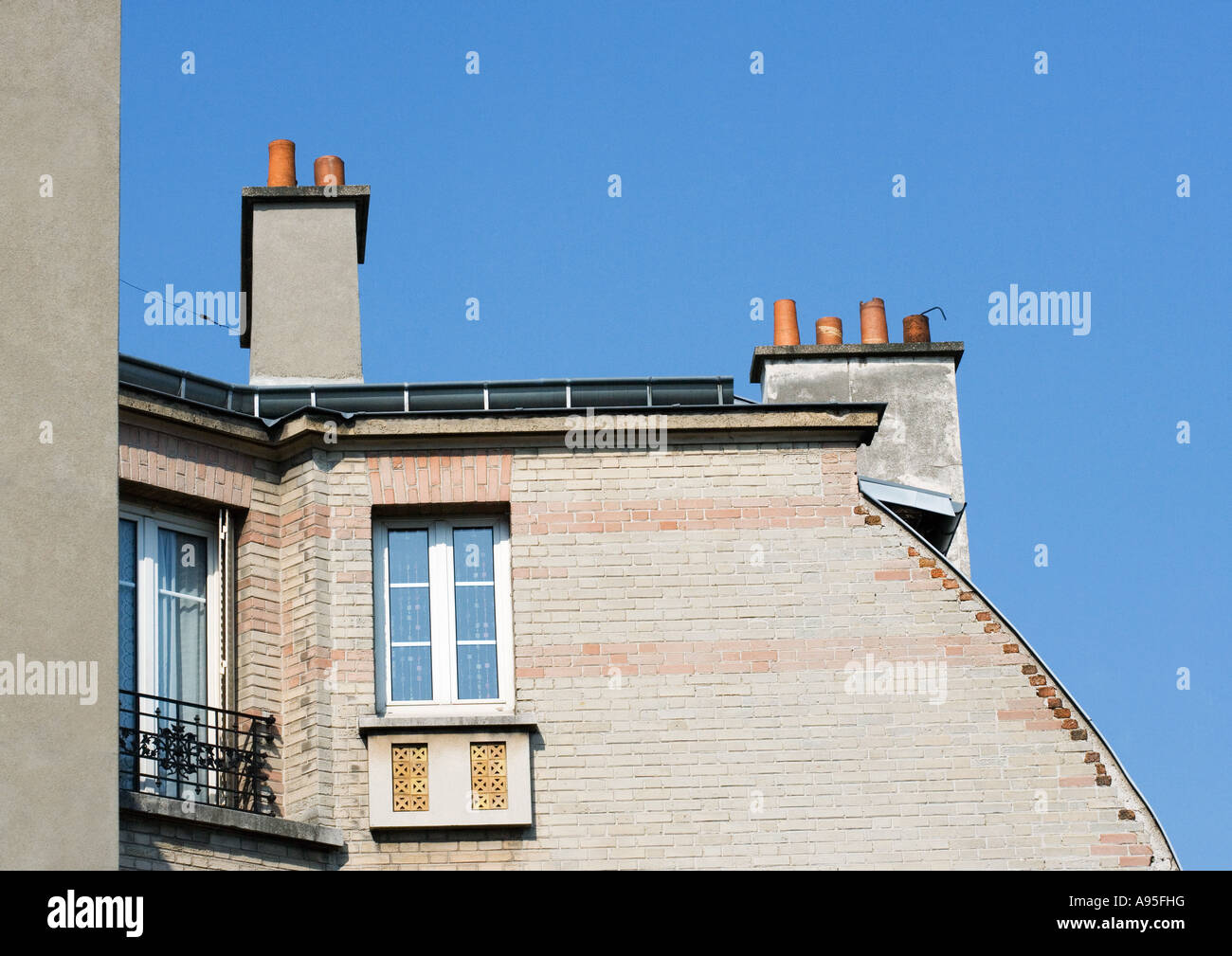 Apartment building, partial view - Stock Image