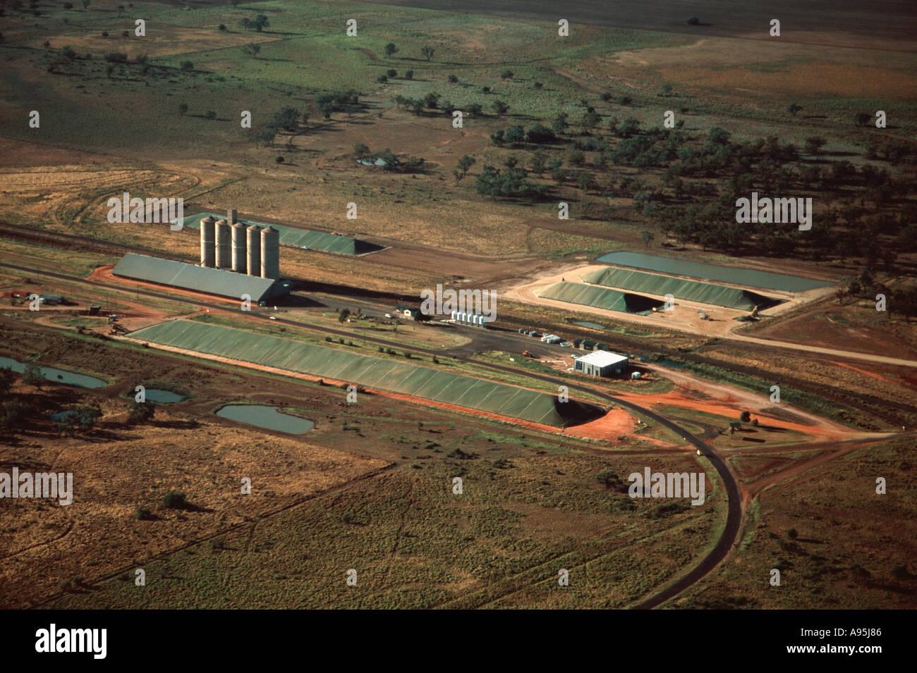 grain storage - Stock Image