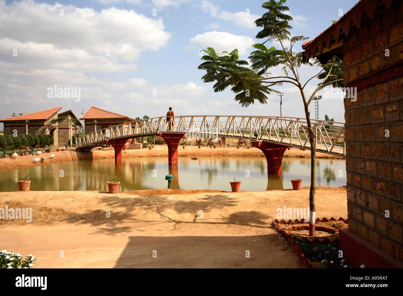 Bridge At Hiralaxmi Memorial Craft Park Bhujodi Village Kutch