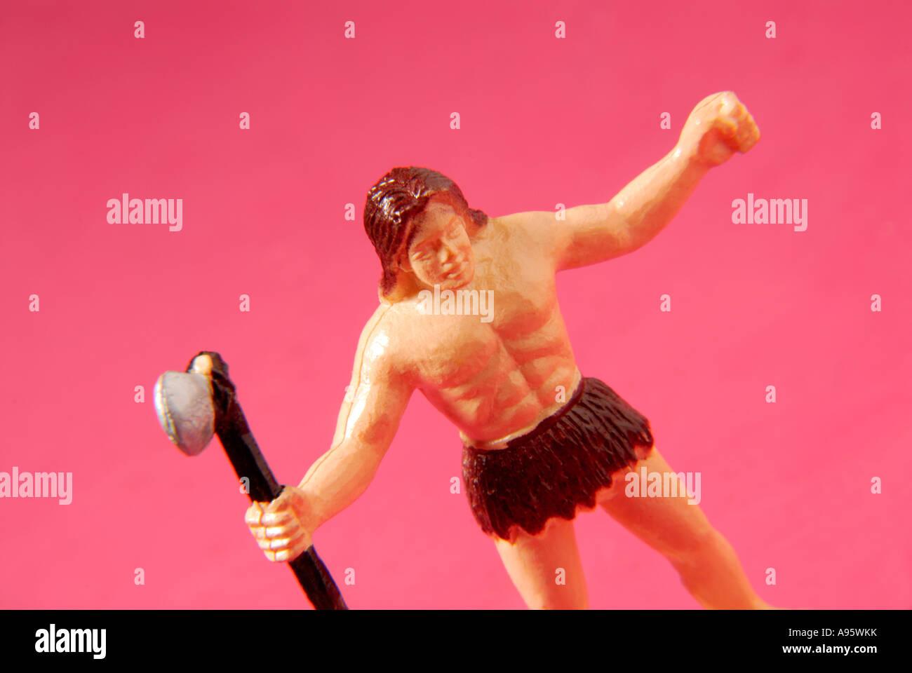 Toy Caveman - Stock Image