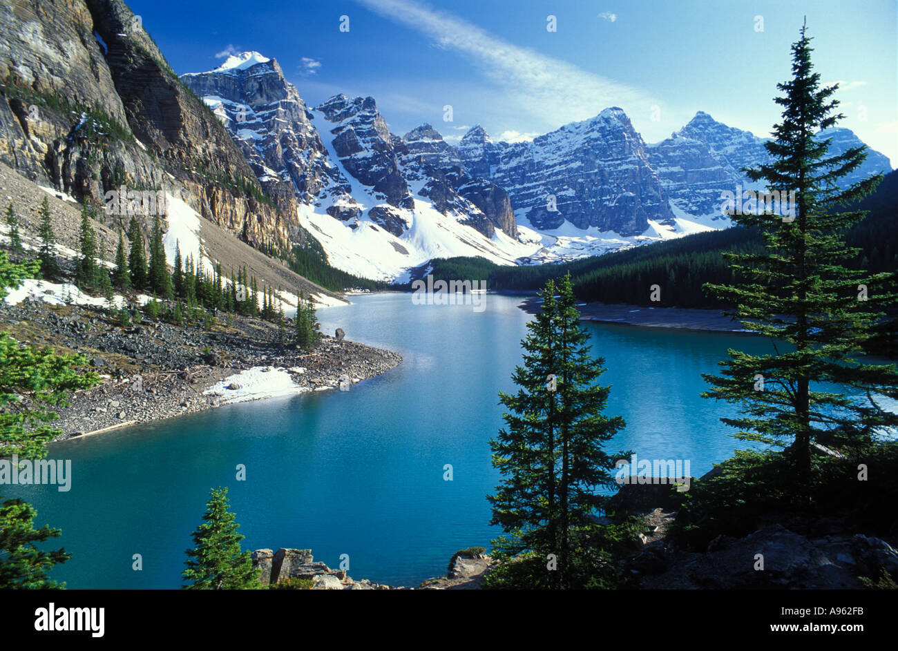 Morraine Lake Banff National Park Alberta Canada - Stock Image