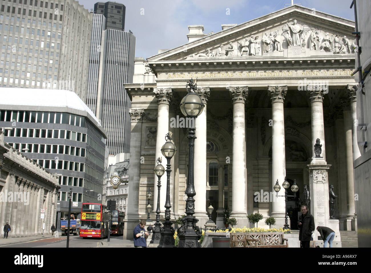 City of London.Royal Exchange Building.2006 Stock Photo