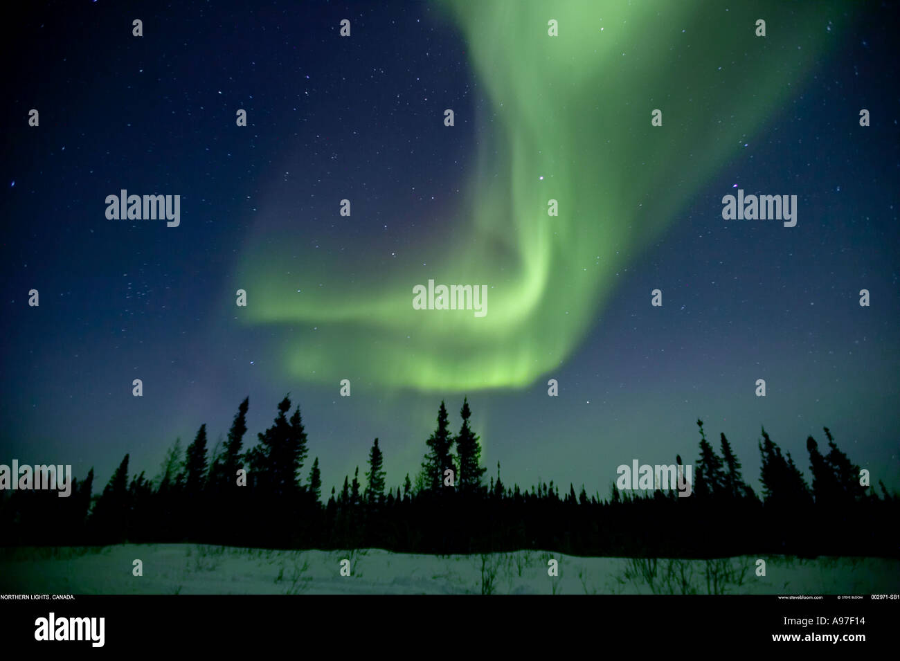Northern Lights Aurora borealis Canada - Stock Image