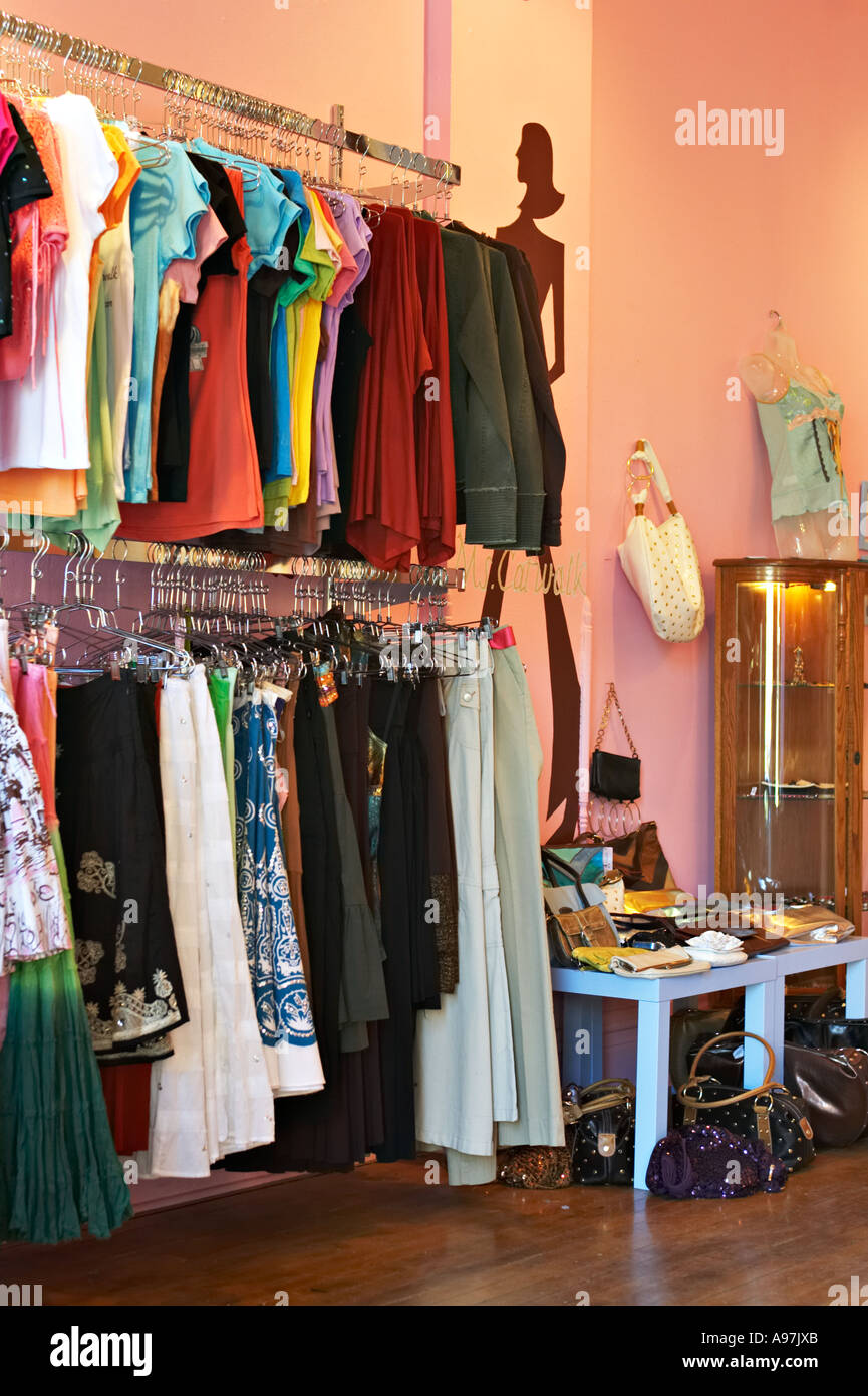 bda0ec6464d9 ILLINOIS Chicago Interior of womens clothing store in Bucktown neighborhood  on near west side of city Wicker Park boutique