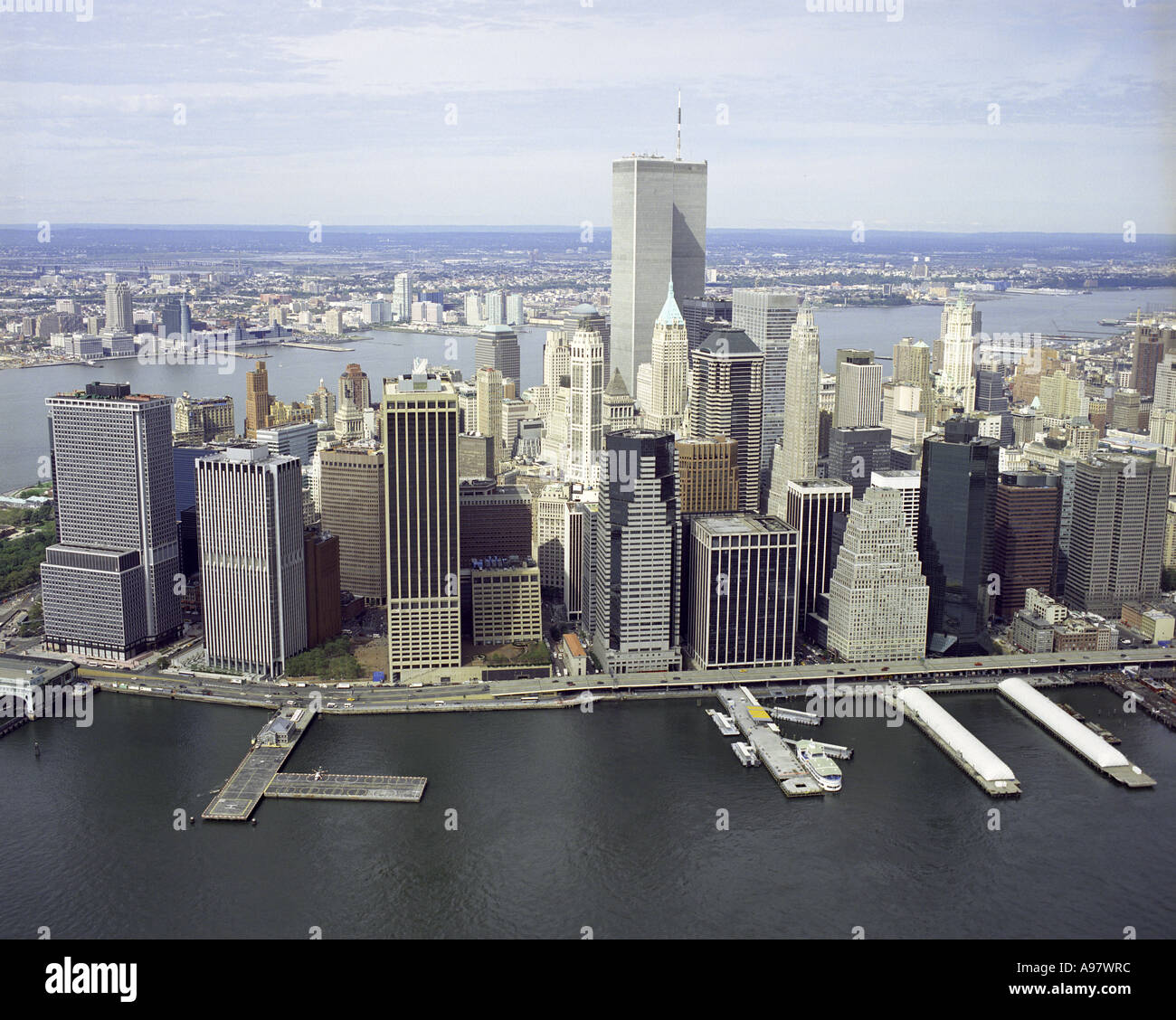 Manhattan New: Aerial View Of The World Trade Center And Lower Manhattan
