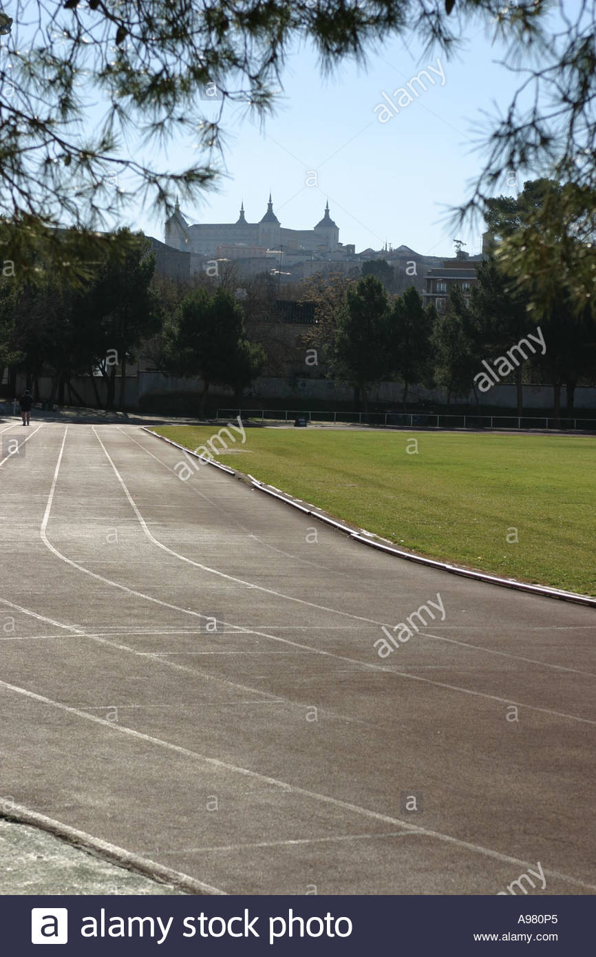A running track in Toldeo Spain - Stock Image