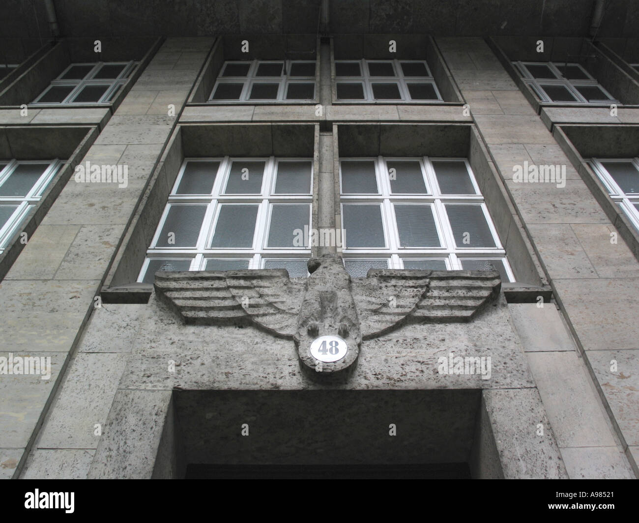 Nazi eagle Berlin Germany 2003  - Stock Image